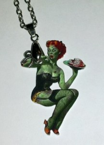 zombie pinup necklace from Pussy's Bowtique
