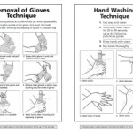 hand washing and glove removal posters