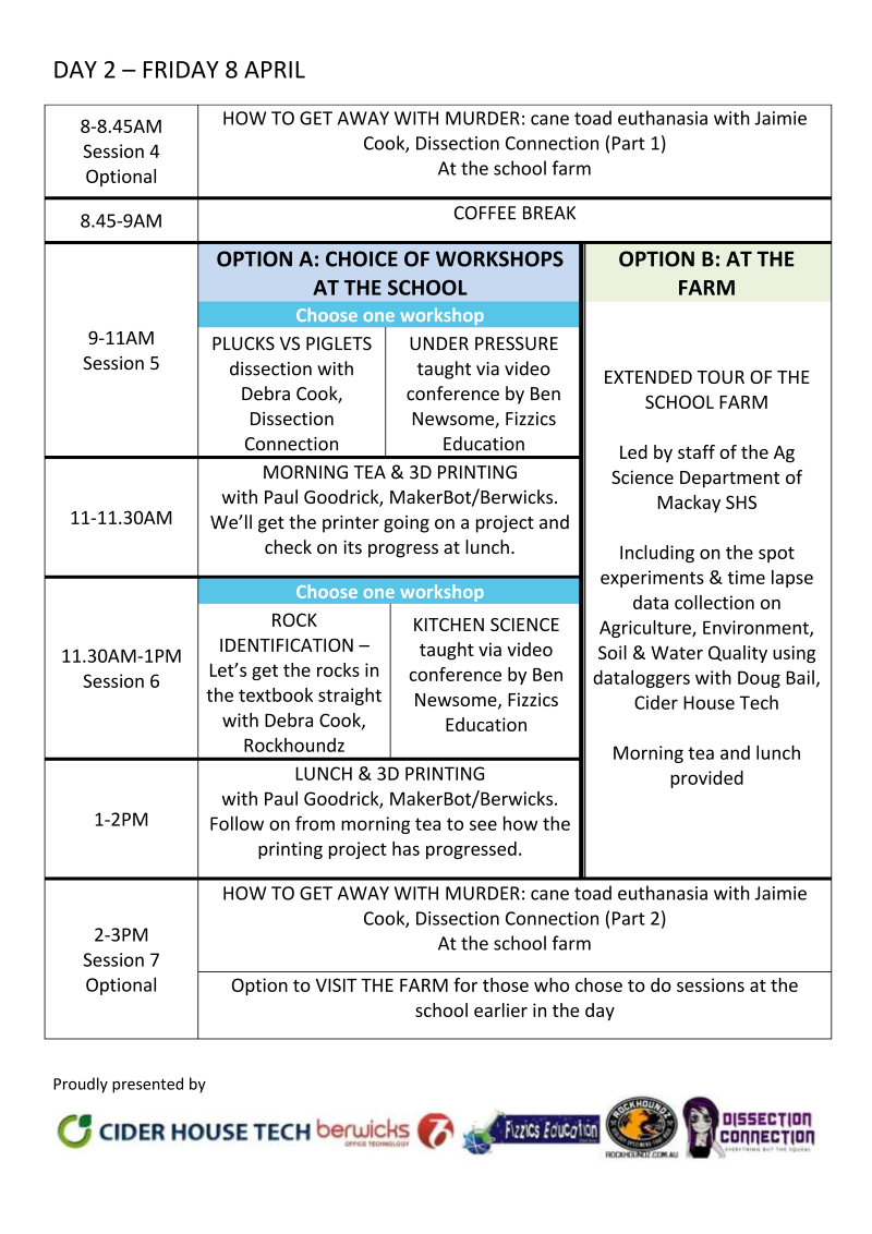 Mackay Science Miniconference 2016 Program 8 April 2016